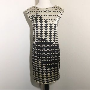 Esprit Geometric Pattern Cocktail Dress